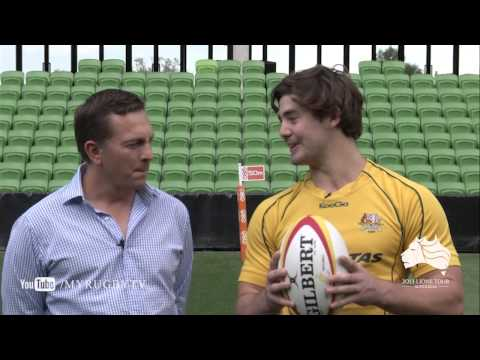 GIlbert unveil new-look ball for Lions Tour |Lions Rugby Video Highlights 2013