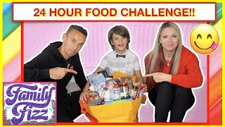 WE ONLY ATE FAMILY FIZZ FOOD FOR 24 Hours! 😋 Food challenge 🥘🍵