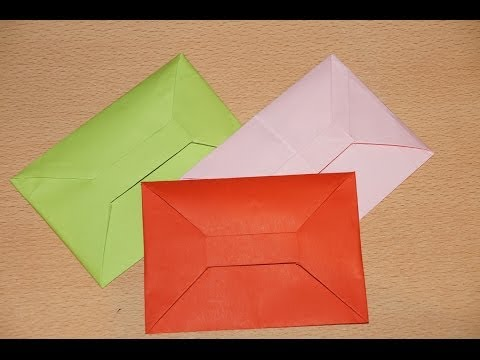 Конверт оригами из бумаги