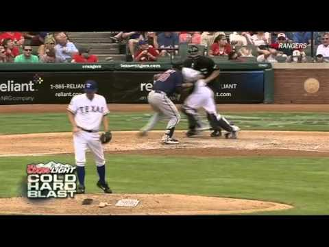 Texas Rangers vs Minnesota Twins - Thunder Clap Clears Field