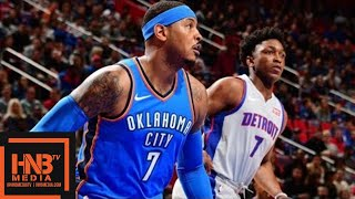 Oklahoma City Thunder vs Detroit Pistons Full Game Highlights / Jan 27 / 2017-18 NBA Season