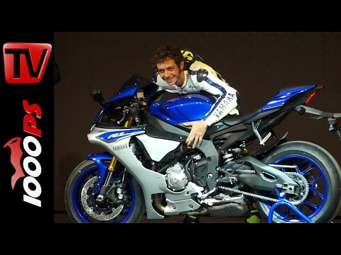 Yamaha YZF-R1 / YZF-R1M 2015   FIRST LOOK with Valentino Rossi-Jorge Lorenzo