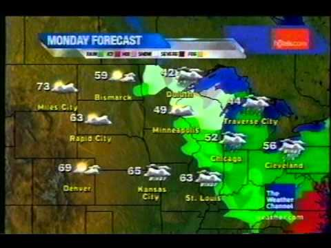 TWC Satellite Local Forecast from April-May 2009 Daytime #4