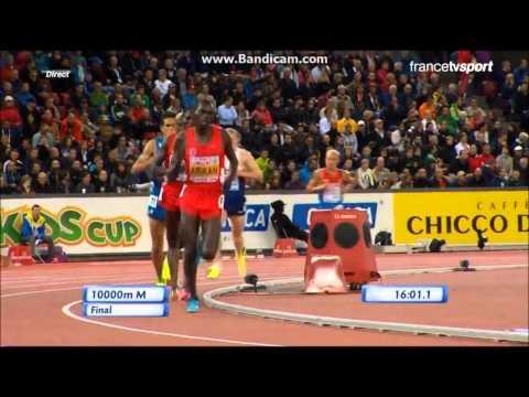 Bob Tahri et Mo Farah sur 10000m finale du Championnat d'Europe 2014 à Zurich