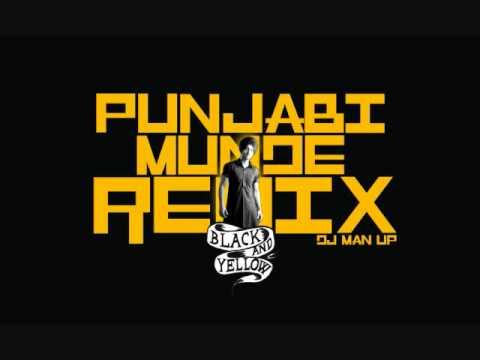 Dj Man Up- Punjabi Munde Black and Yellow REMIX