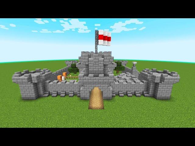 Как сделать небольшой замок в майнкрафте видео