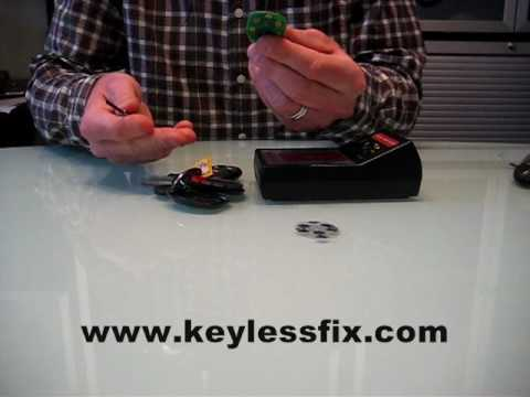Fix Your GM factory remote using KEYLESSFIX button replacement pad. 2 Minute repair. Key fob repair.