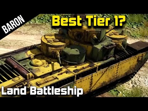 War Thunder Best Tank at Tier 1?  The Soviet Land Battleship!