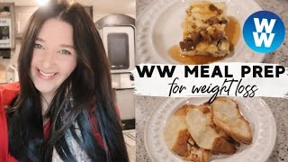 WEEKLY WW MEAL PREP FOR WEIGHT LOSS ON WW BLUE!