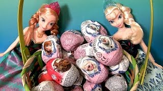 20 Disney Frozen 3D Surprise Eggs Easter Basket Movie Olaf Anna Elsa Kinder Sorpresa Huevos CARS2
