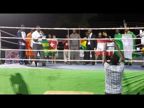 Ghana Kickboxing.  Isaac Aikins(20)