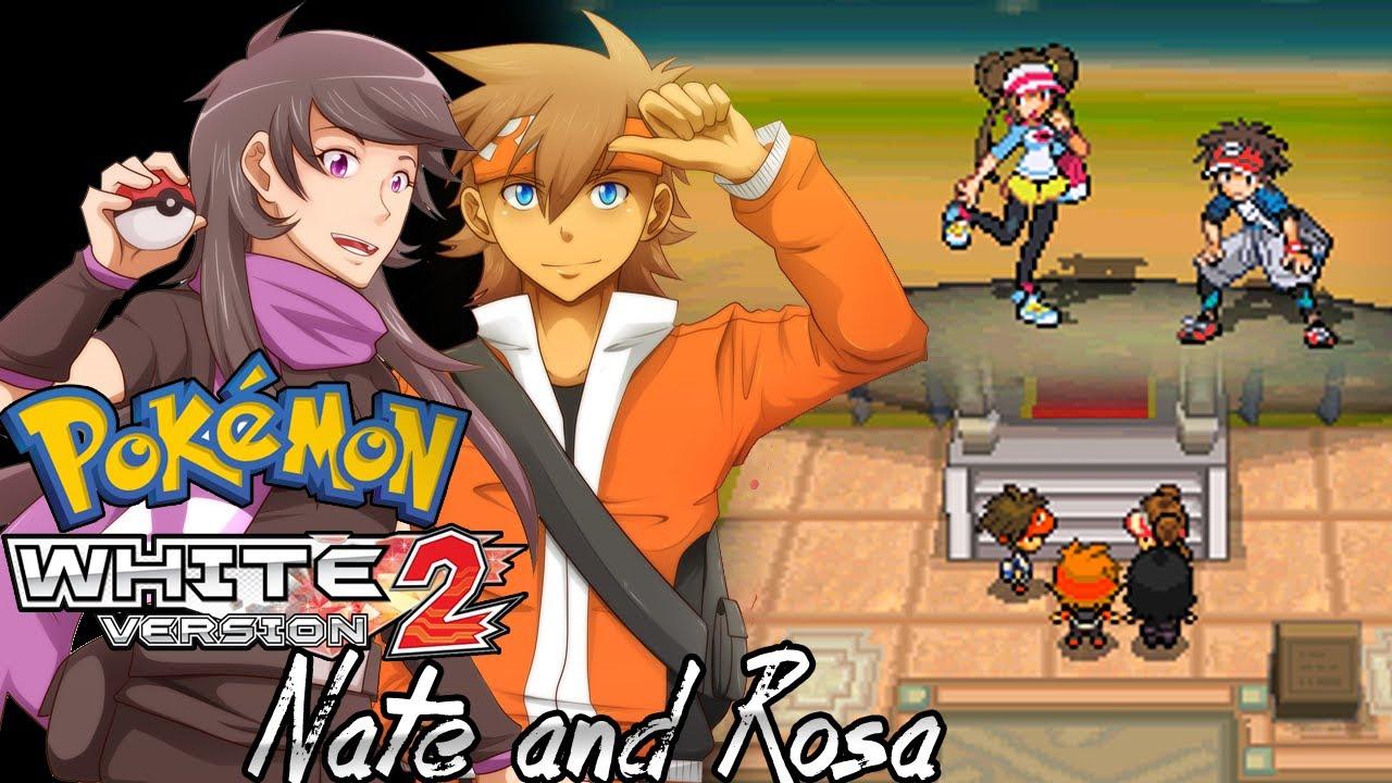 Pokemon White 2 Hack: Vs. Nate and Rosa - YouTube