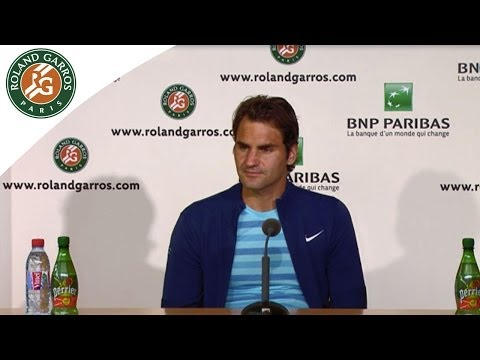 Press conference Roger Federer R1 2014 French Open