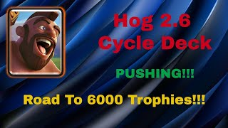 INSANE CYCLE! 5000+ 2.6 Hog Rider Cycle Pushing LIVE Gameplay  - Clash Royal