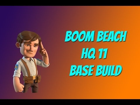 Boom Beach HQ 11 Base Build: Alpha 1