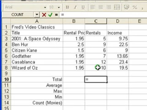 Microsoft Excel Tutorial for Beginners #3 - Calculations (Formulas)