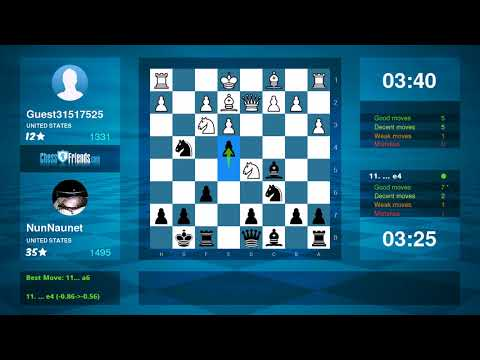 Chess Game Analysis: Guest31517525 NunNaunet : 01 (By ChessFriends.com)