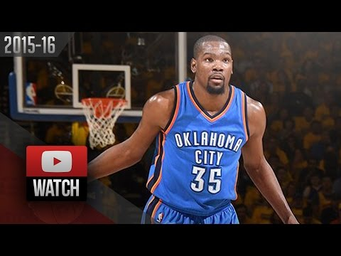 Kevin Durant Full Game 1 Highlights at Warriors 2016 WCF - 26 Pts, 10 Reb, CLUTCH!