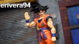SH Figuarts Dragon Ball Z SON GOKU A Saiyan Raised On Earth Figure Review Bandai Tamashii Nations