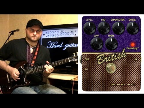 Tech 21 British Character Series Pedal SansAmp Demo And Review