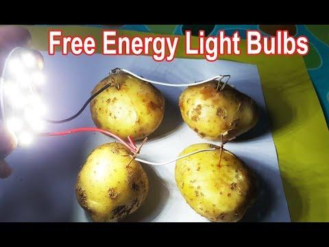 Free Energy Light Bulbs using Potato thumbnail