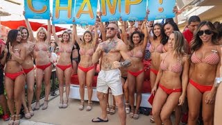 Conor McGregor hosts pool party at Encore Beach Club after UFC 202 Victory #TheMacLife