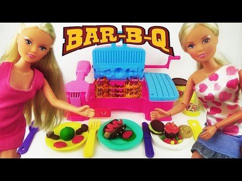Игровой набор пластилин Барбекю для пикника, играем куклами, лепим / Play set аналог Play Doh
