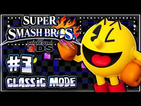 Super Smash Bros 3DS - (1080p) Part 3 - Classic Mode w/Pacman
