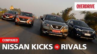 Nissan Kicks v Hyundai Creta v Renault Captur v Maruti Suzuki S-Cross  | OVERDRIVE