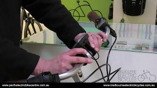 "How to adjust bike handlebars using a Gazelle ""switch"" quick release"