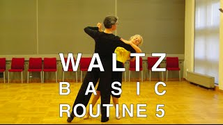 How to Dance Waltz - Basic Routine 5