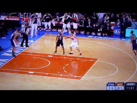 Steve Novak. Off the dribble, off the glass. New York Knicks vs. Utah Jazz March 9, 2013