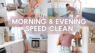 SPEED CLEAN WITH ME MORNING & EVENING | KATE MURNANE AD