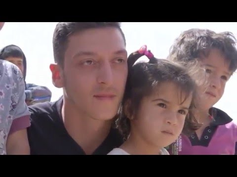 Mesut Ozil Visits Refugee Camp & Plays Football With The Kids