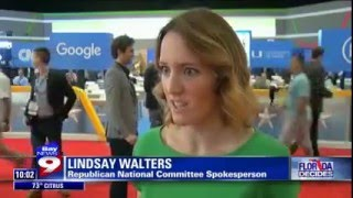 RNC Spokeswoman Lindsay Walters on Bay News 9