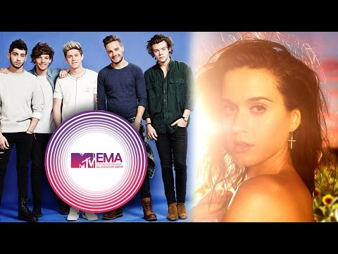 One Direction Katy Perry Ariana Grande Score 2014 MTV EMA Nominations...