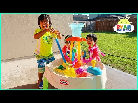 Water Table Little Tikes Fun Zone Fountain Factory + Rain Showers Splash Pond