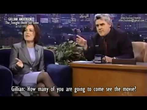 Gillian Anderson - The Tonight Show Jay Leno 1998