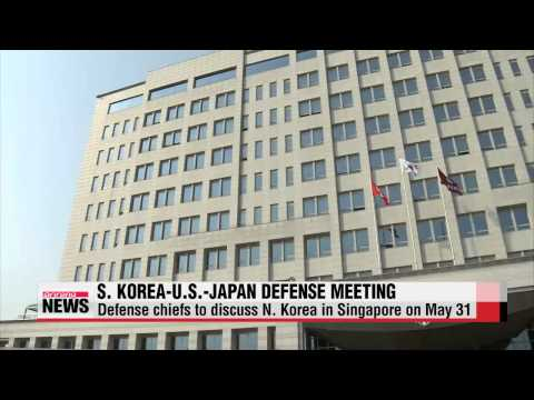 Defense ministers of Korea U S  Japan to meet in Singapore
