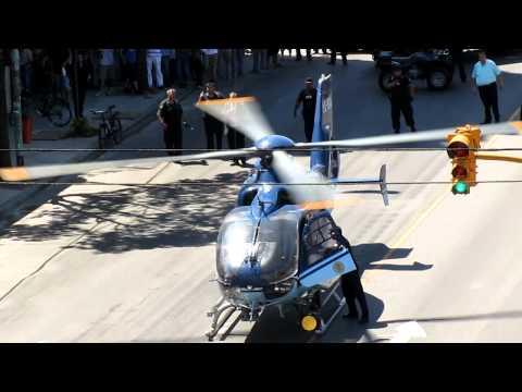 traslado de baleado en helicóptero