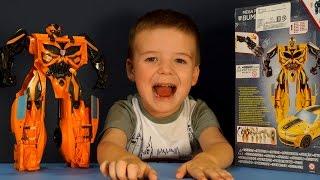 Игрушки Трансформеры 4. Автобот Бамблиби. Роботы для детей - обзор на русском.