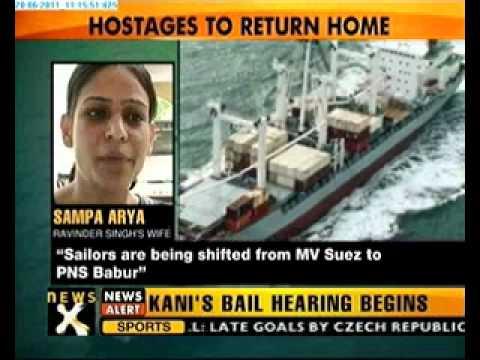 MV SUEZ heads towards Karachi