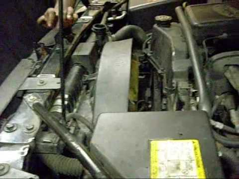 replace  water pump   chevy trailblazer  eng