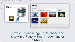 How to upload image to database and show in a page without image handler in MVC4.
