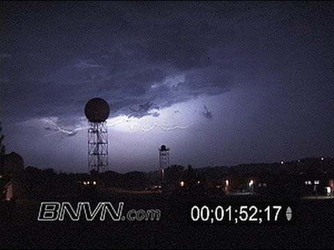 Video of National Weather Service radar's and lightning