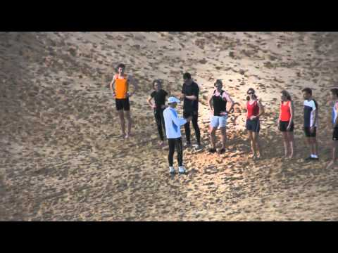 Sand dune running workout - Athletics East 2011