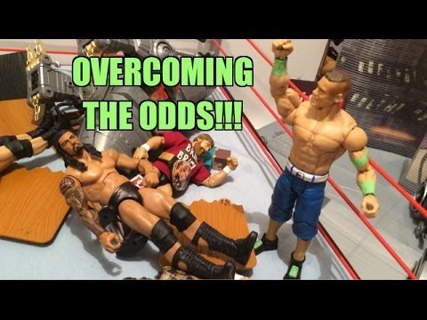 GTS WRESTLING: Super Cena Returns! WWE figure matches animation event! Mattel Elites!