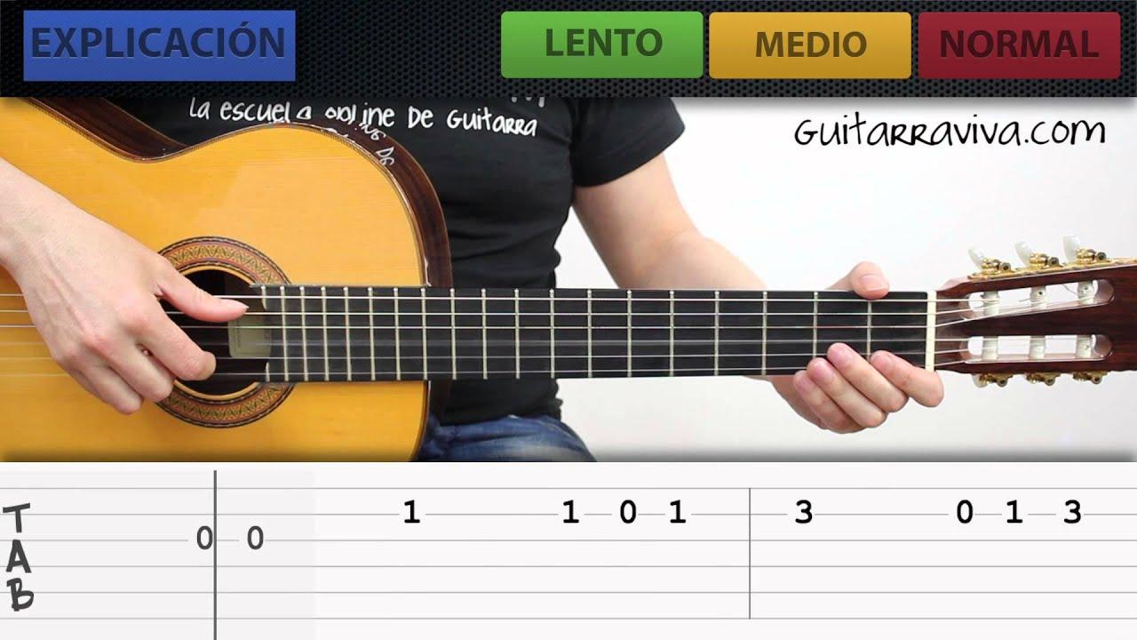 LAS MAu00d1ANITAS EN GUITARRA ACu00daSTICA MUY FACIL PARA PRINCIPIANTES Y NOVATOS - YouTube