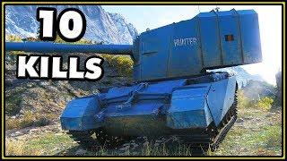FV4005 Stage II - 10 Kills - 10K Damage - World of Tanks Gameplay