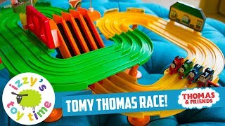 RARE THOMAS TRAIN TOMY! Thomas Train Race on the Rails Playset | Fun Toy Trains for Kids & Children